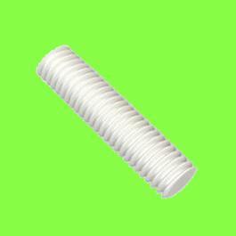 Vis sans tête Fendue Bout plat Nylon Naturel PA6-6 DIN 551