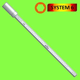 Porte-embout SYSTEM 6, convient pour les embouts C 6,3 et E 6,3 (1/4