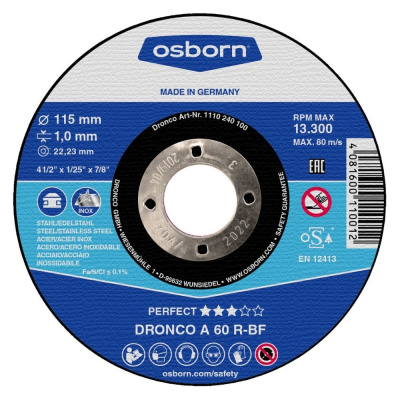 DISQUE A TRONCONNER PLAT 115X1.0X22.2 A60R PERFECT 1110-240.100