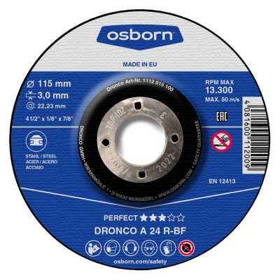 DISQUE A TRONCONNER DEPORTE 115X3.0X22.2 A24R PERFECT 1112-015.100