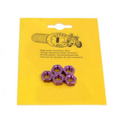 Blister de 5 Ecrous Hu P40 OA Violet